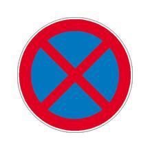 Verkehrszeichen - StVO - Absolutes Haltverbot - 2 Größen