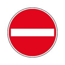 Verkehrszeichen - StVO - Verbot der Einfahrt - 2 Größen