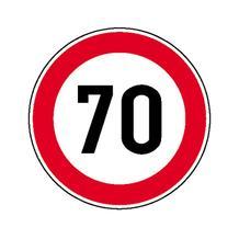 Verkehrszeichen - StVO - Zulässige Höchstgeschwindigkeit - 2 Größen