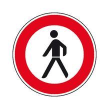 Verkehrszeichen - StVO - Verbot für Fußgänger - 2 Größen