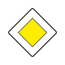 Verkehrszeichen - StVO - Vorfahrtstraße - 2 Größen