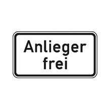 Zusatzzeichen - StVO - Anlieger frei - 2 Größen