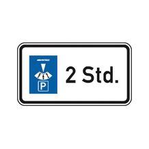 Zusatzzeichen - StVO - Parkdauer 2 Std. - 2 Größen