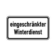 Zusatzzeichen - eingeschränkter Winterdienst - 2 Größen