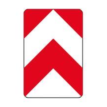 Verkehrszeichen - StVO - Leitplatte links- und rechtsweisend