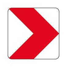 Verkehrszeichen - StVO - Richtungstafel rechtsweisend