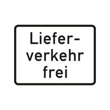 Verkehrszeichen - StVO - Lieferverkehr frei - 2 Größen