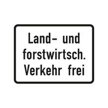 Verkehrszeichen - StVO - Land- und forstwirtsch. Verkehr frei - 2 Größen