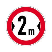 Verkehrsschild - Betriebskennzeichnung - Verbot für Fahrzeuge über bestimmte Breite - individuelle Angabe