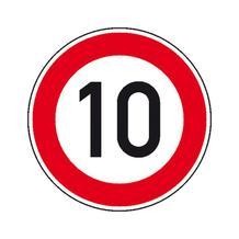 Verkehrsschild - Betriebskennzeichnung - Zulässige Höchstgeschwindigkeit - individuelle Angabe