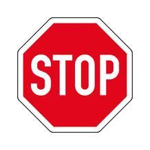 Verkehrsschild - Betriebskennzeichnung - Halt! Vorfahrt gewähren