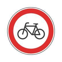 Verkehrsschild - Betriebskennzeichnung - Für Radfahrer verboten
