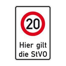 Verkehrsschild - Betriebskennzeichnung - Zeichen: Zulässige Höchstgeschwindigkeit ...km/h - individuelle Angabe