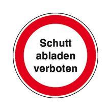 Hinweisschild - Wald- und Freizeitanlagen - Text: Schutt abladen verboten