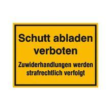 Hinweisschild - Wald- und Freizeitanlagen - Text: Schutt abladen verboten ...