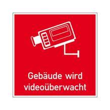 Video Infozeichen - Betriebskennzeichnung - Symbol - Text: Gebäude wird videoüberwacht