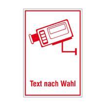 Video Infozeichen -  Betriebskennzeichnung - Symbol - mit Text nach Wahl