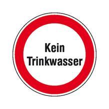 Hinweisschild - Betriebskennzeichnung - Text: Kein Trinkwasser