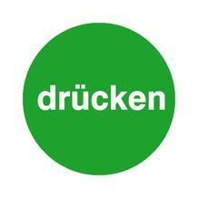 Türschild - Text: drücken - Farbe: Grün / Weiss