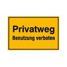 Hinweisschild zur Grundbesitzkennzeichnung - Privatweg - Benutzung verboten