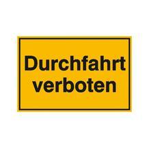 Hinweisschild zur Grundbesitzkennzeichnung - Durchfahrt verboten