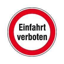 Verbotsschild für Grundbesitz - Einfahrt verboten