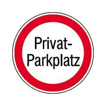 Verbotsschild - Privat-Parkplatz
