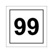 Parkplatzkennzeichnung / Hinweisschild - Ziffernschild mit max. 2-stelliger Nummer nach Wahl