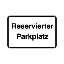 Parkplatzkennzeichnung / Hinweisschild - Reservierter Parkplatz