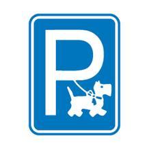 Hinweisschild - Grundbesitz - Symbol: Hundeparkplatz