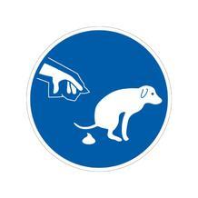 Gebotsschild - Symbol: Hundekot entfernen - 2 Ausführungen