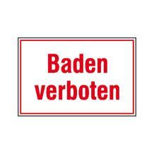 Hinweisschild für Wald- und Freizeitanlagen - Baden verboten