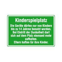 Spielplatzschild - Kinderspielplatz - Die Geräte dürfen nur von Kindern ...