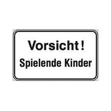 Hinweisschild - Wald- und Freizeitanlagen - Vorsicht! Spielende Kinder