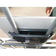 Zaungitterbefestigung - für Schildermontage - Verbinder flach