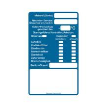 """""""Service-Checkliste"""" aus PVC Folie, 60 x 100 mm"""