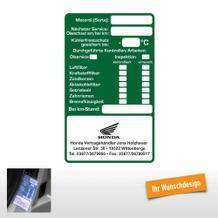 """""""Service-Checkliste"""" , 60 x 100 mm, mit Wunschdesign"""
