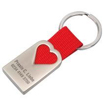 """Schlüsselanhänger """"LOVE"""" aus Metall mit Nylonband"""