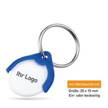 """Schlüsselanhänger """"SHOPY"""" mit EK-Chip, Grösse 1 Euro"""
