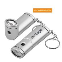 LED-Lampe aus Kunststoff mit Drehkopf als Schlüsselanhänger