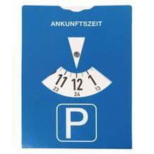 Euro-Parkscheibe aus Karton mit Bußgeldrechner