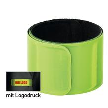 """Reflex-Schnapparmband """"SCHNAPPY"""" gelb, mit Aufdruck"""