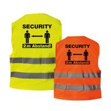 """Qualitäts-Warnweste - Premium """"Security & Sicherheitsabstand!""""- Gelb oder Orange"""