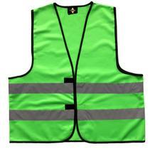 Funktionsweste Grün mit Leuchtstreifen (3 Größen)