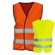 Warnweste - XL - mit reflektierenden Streifen - Saum in Gelb