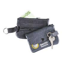 Leder-Schlüsseltaschen schwarz