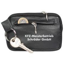 Großraum-Schlüsseltasche - echt Leder