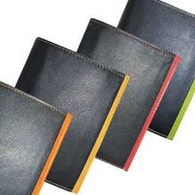 """Ausweistasche """"Color-Case"""" aus Rindnappaleder  mit Farbstreifen"""