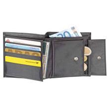 Kombi-Geldbörse mit Lederstruktur