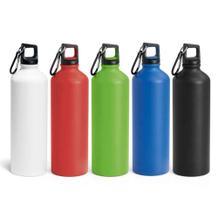 Trinkflasche aus Aluminium mit Karabiner